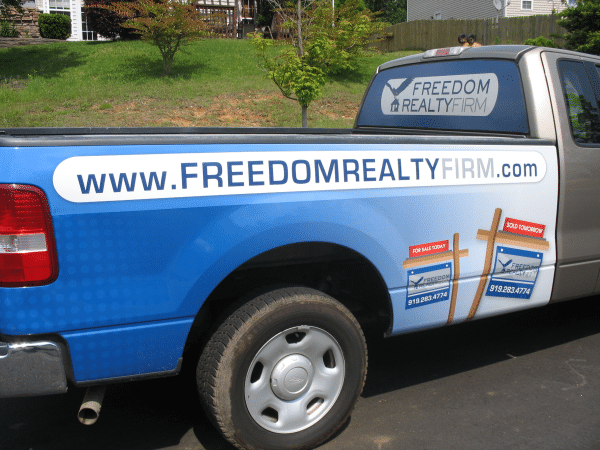 Freedom Realty Truck Wrap means Business